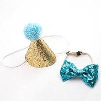 Новый кукольный праздничный колпак для собак и кошек, галстук бабочка, детские шляпы для детской вечеринки, галстуки, головные уборы, вечерн