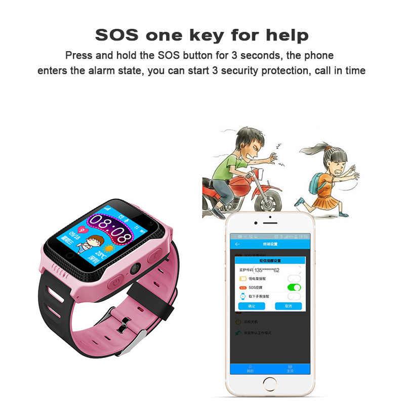 Newest Watch Camera Flashlight Touch Screen SOS Call Location Baby Clock Children Smart Watches 2G SIM Card GPS Tracker Kids