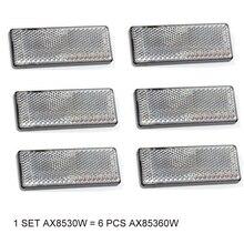 6 PCS PAOHEWE weiß rechteckigen reflektor selbstklebende ECE Zustimmung reflektieren streifen für anhänger lkw lkw bus RV caravan bike