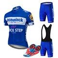 חדש 2019 כחול קוויק רכיבה על אופניים צוות ג 'רזי 12D אופני מכנסיים סט מהיר יבש אופניים בגדי mens קיץ פרו רכיבה על אופניים מאיו ללבוש
