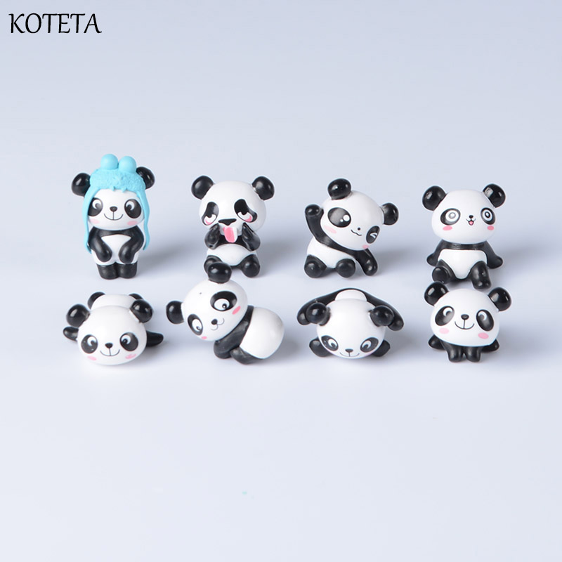 Koteta Mini PVC Toys Action-Figure Animal-Doll Christmas-Gift Birthday Cartoon Cute Panda