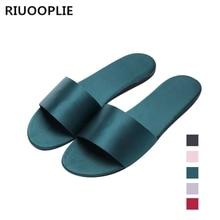 лучшая цена RIUOOPLIE Summer Women Slides Slippers Sandals Soft Soles Home Bathroom Slippers Beach Flip Flops Shoes Woman Outside Flat