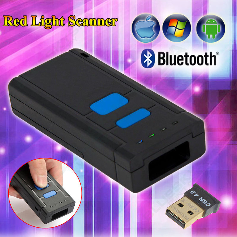EYOYO Code Scanner Bluetooth Android-Windows Portable Wireless CCD 1D for IOS Mj-2877-Bar