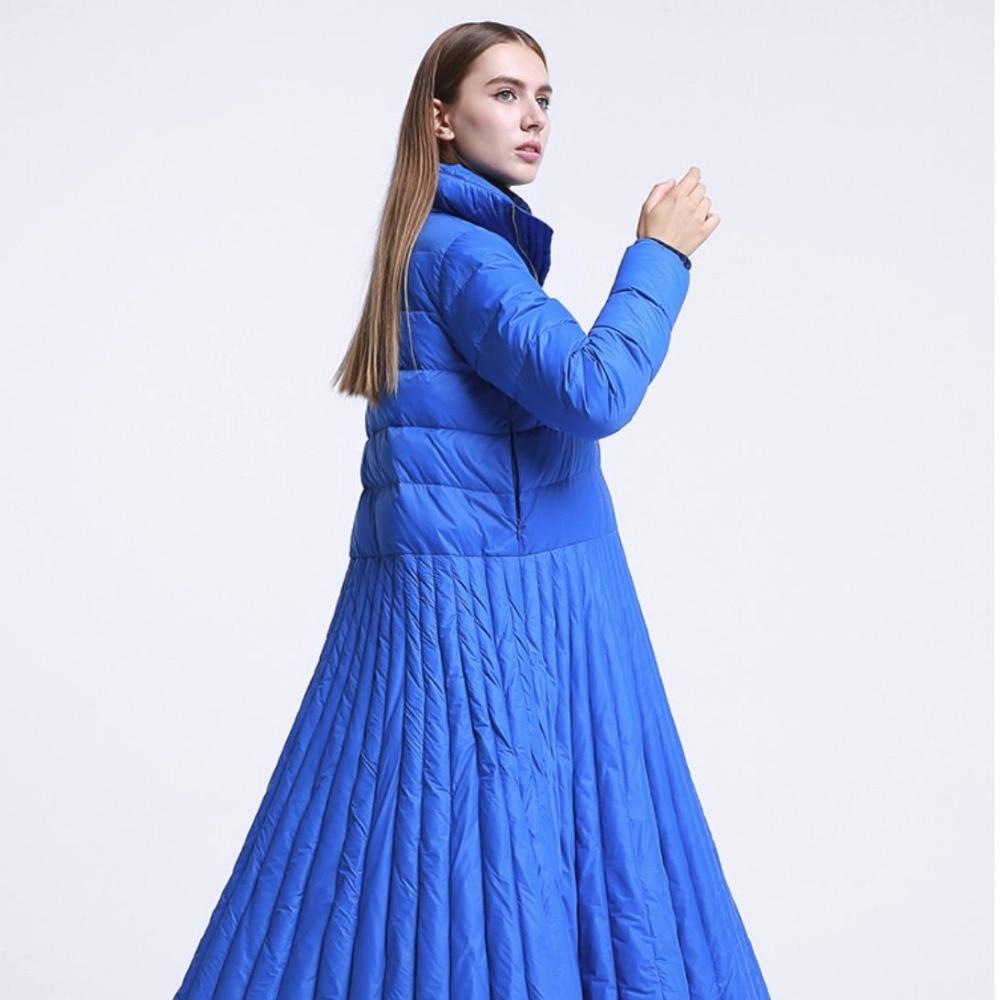 Down Vêtements Casual Et Le Xl Manteau Automne Long De Bas Femelle Veste Bleu 2018 Spécial D'hiver Femmes Conception Vers 7qfgw