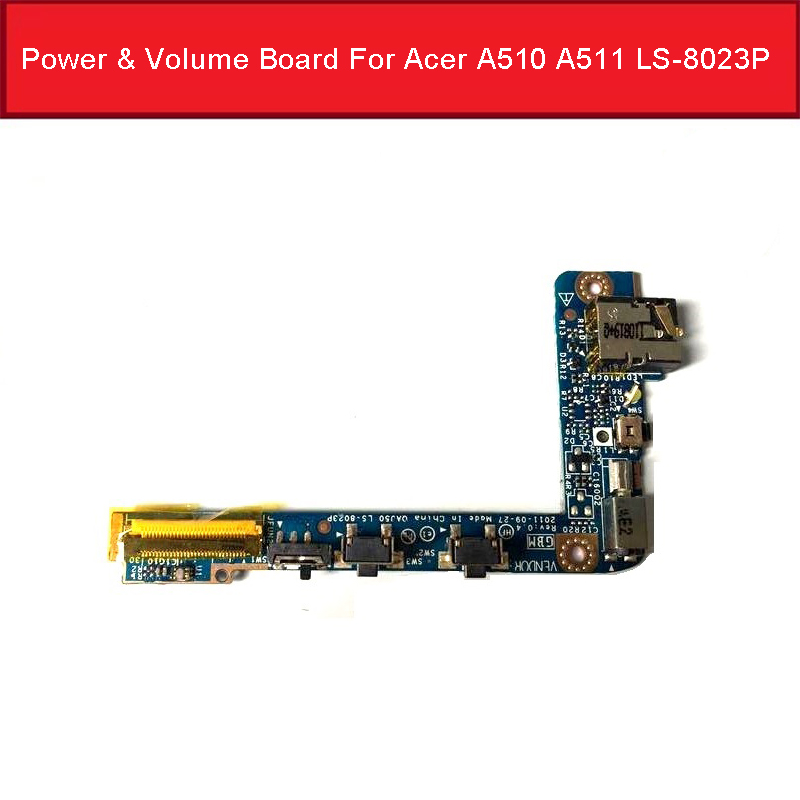 Genuine Power & Volume Board For <font><b>Acer</b></font> Iconia Tab <font><b>A510</b></font> A511 Headphone Jack Sensor Board QAJ50 LS-8023P Parts Tested Good image