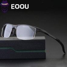 Aluminum Magnesium Optical Glasses For Men Black Gary Outdoors Sports Clear Lens Half Frame Gafas