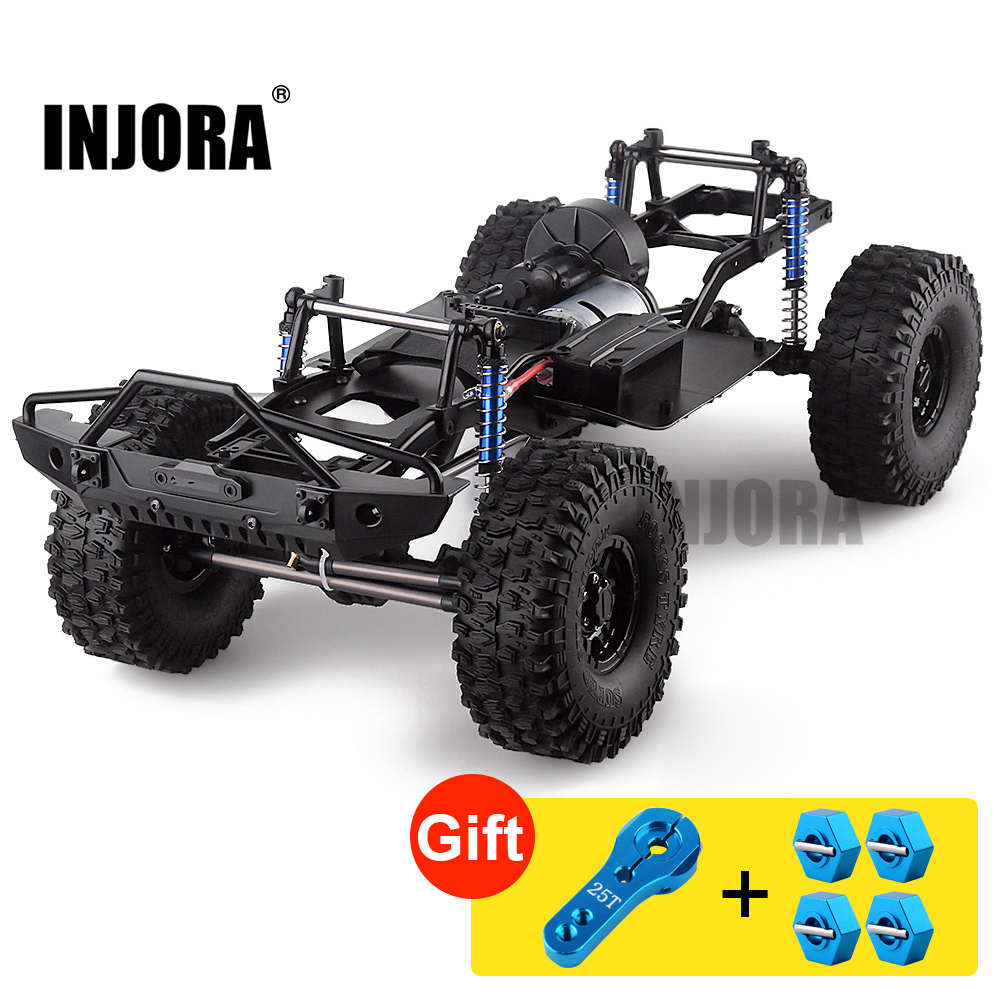 """INJORA 313mm 12.3 """"empattement assemblé châssis pour 1/10 RC voiture sur chenilles SCX10 SCX10 II 90046 90047"""