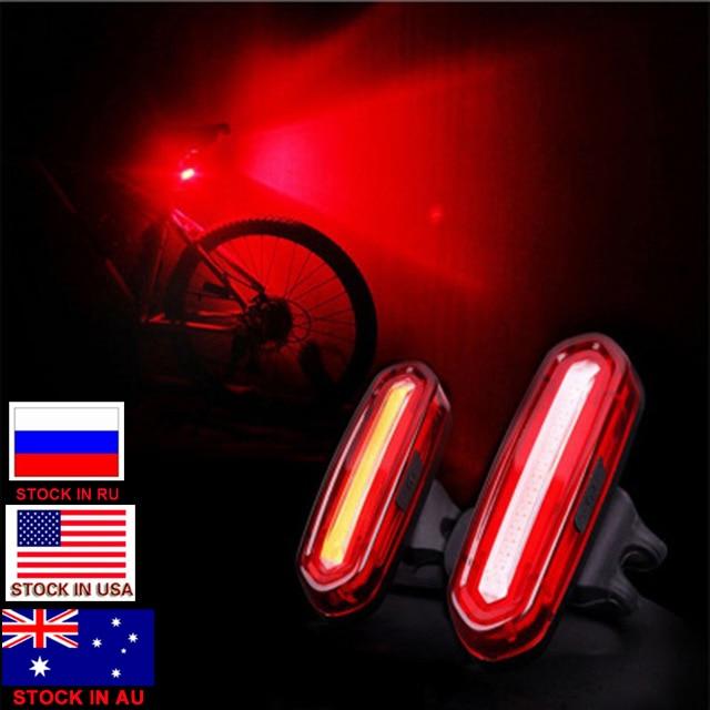 150 LM Velosiped Velosiped USB Doldurula bilən COB LED Dağ Arxa Comet Bike Quyruğu İşıq MTB Təhlükəsizlik Xəbərdarlığı Arxa İşıq Çırağı