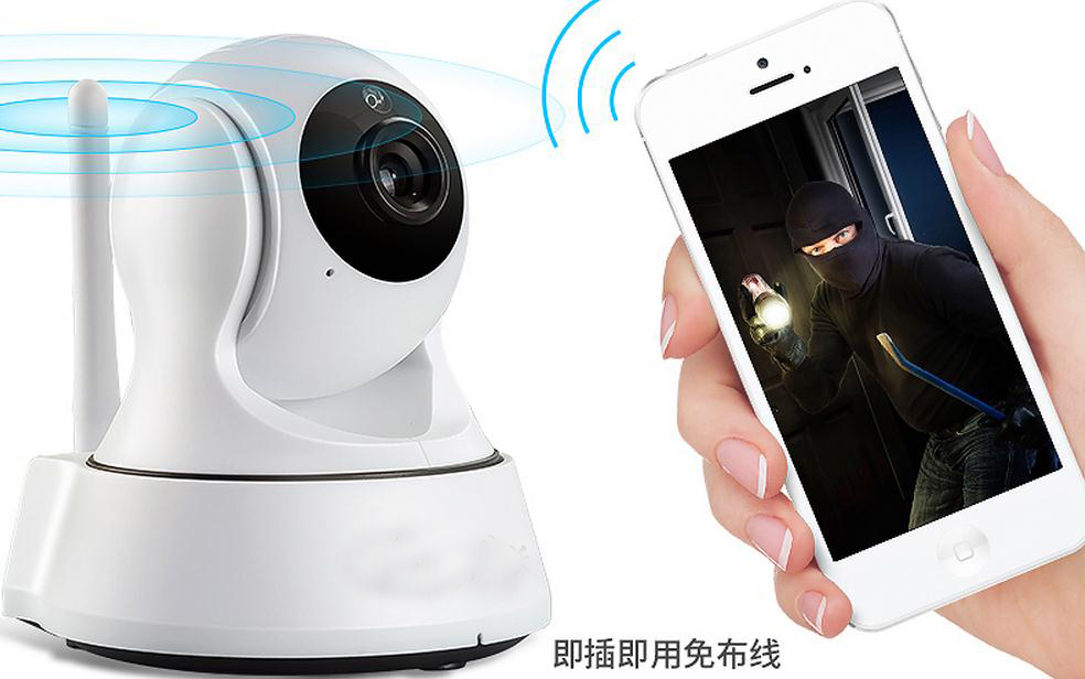 Indoor 720p HD  network monitoring, Wifi  camera, Smart home wireless rotate the camera makita hp1631k