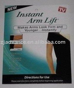 Free Shipping instant arm lift makes arms look firm and younger instantly slimming arm 40pcs/lot(one box=4pcs)