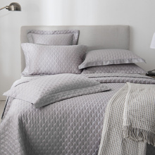 цена на 100% Cotton Filling Bedspread Grey 3/5-Pieces Chic Bed spread Quilted Coverlet Bed Cover Stitched Solid Color Queen King size