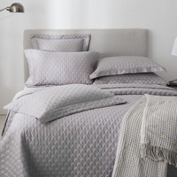 100% Cotton Filling Bedspread Grey 3/5 Pieces Chic Bed spread Quilted Coverlet Bed Cover Stitched Solid Color Queen King size