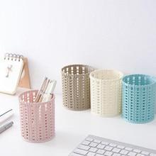 Plastic Compact Basket For Kitchen Bathroom Office Desk Organizer Pen HolderPen Vase  Pen Holder Desktop Pencil Pot Holder