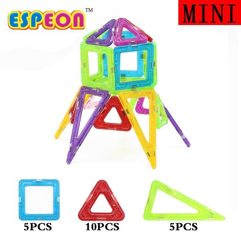 Mini 20Pcs/Set Models Building Toy Magnetic Designer Educational Building Blocks Plastic Assemble Enlighten Bricks Kids Toys magnetic toy 77pcs mini magnetic models