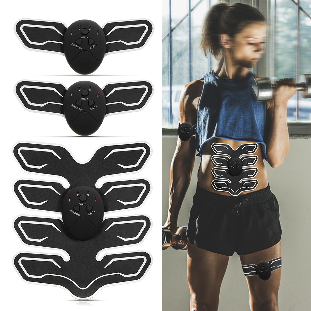Abdominal Muscle Trainer Fitness Toner Belly Leg Arm Pad Exercise EMS Stimulation Training Muscle Stimulator Gear Body Massager