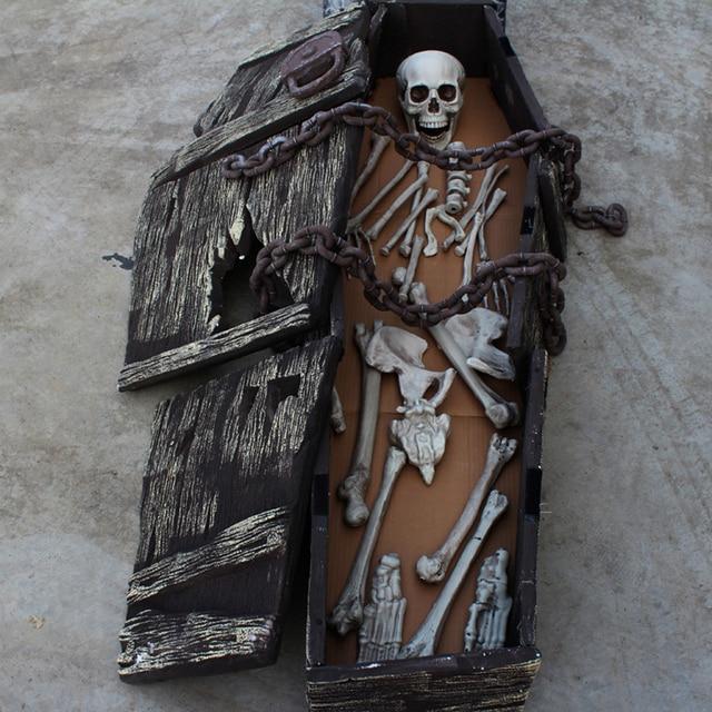 27pcs halloween haunted house props skull skeleton human body party bar decorations plastic frame scary room - Halloween Decorations Skeleton