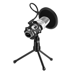 Image 3 - Microphone Pop Filter Holder Stick Desktop Tripod Stand Anti Spray Net Kit PS 2  ABS + Metal