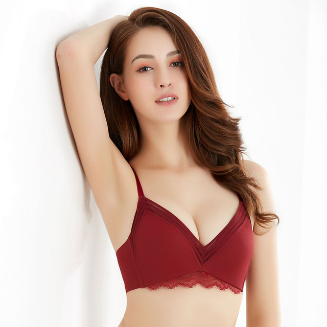 f0c3523e42f0 Red Bra Set Push Up Brassiere Thick Cotton Underwear Set Sexy Bras For Women  Lace Gather Bra And Panty Sets Lingerie Set A B Cup