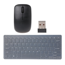 Wireless 2.4GHz Ultra-Thin Keyboard Mini Optical Mouse Set For Laptop Desktop PC #H029# Drop shipping