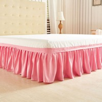 Polyester pink blue grey beautiful hot twin bed skirt queen king size skirts bedding for wedding choose twin/queen/king size