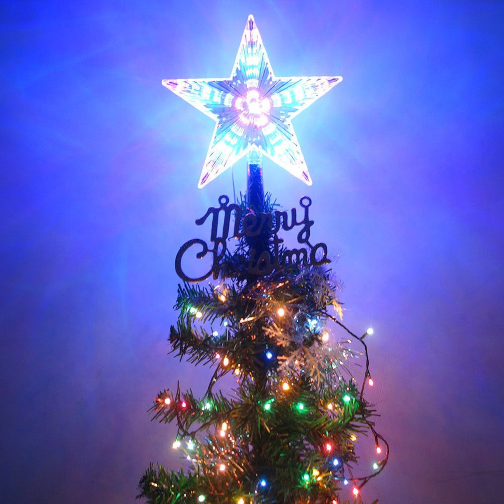 4 LED Flashing Mode Star Christmas Tree Topper <font><b>Light</b></font> Xmas <font><b>Home</b></font> Party <font><b>Decor</b></font> Lamp Three size <font><b>for</b></font> your choice image
