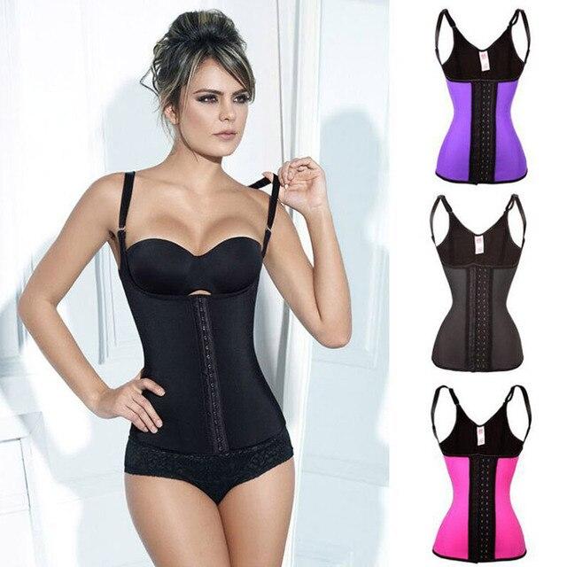 549b8bf21b3d1 Underbust 3 Hook Latex Waist Trainer Vest xxxl Plus Size Shapewear Women  Camisole Shaper Modern Rubber Waist Cincher Vest