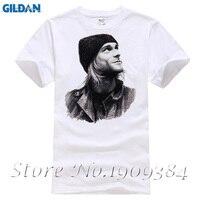 Курт Кобейн карандаш Новый мужской моды хлопка с коротким рукавом и круглым воротником футболка смешные футболки для мужчин