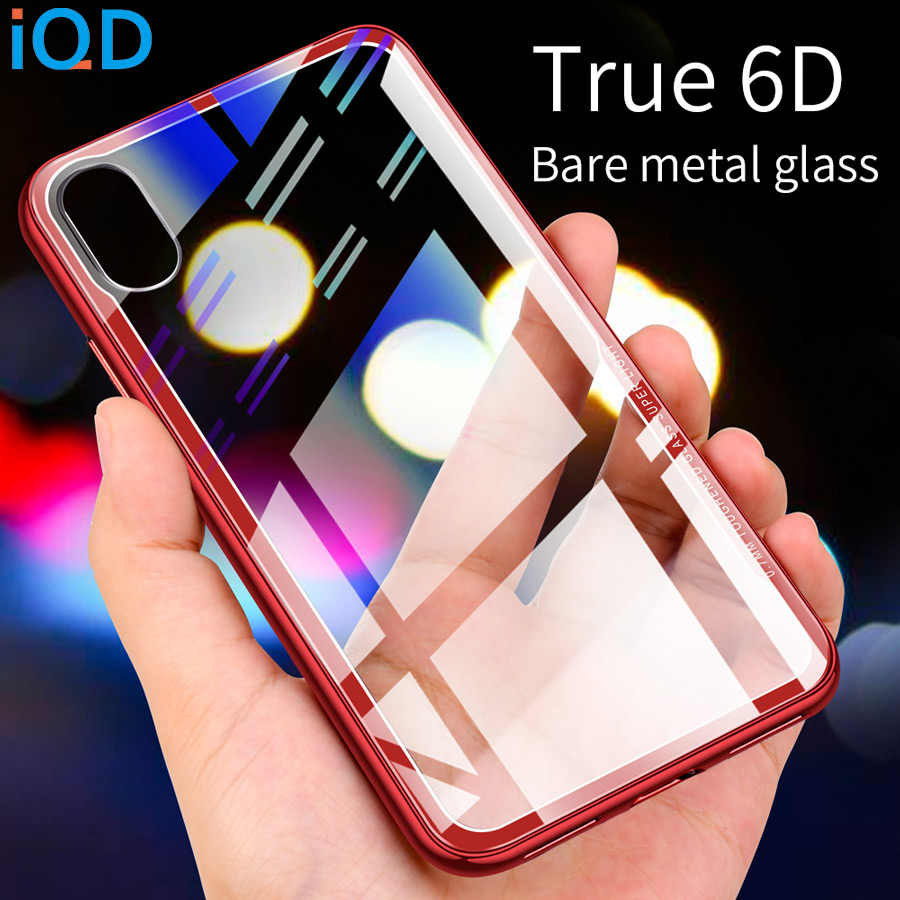 IQD Protective for iPhone X XS Max XR Tempered Glass Case Clear Back Shell Cover For iPhone 8 7 6 6s Plus Newest Bumper Cases xs