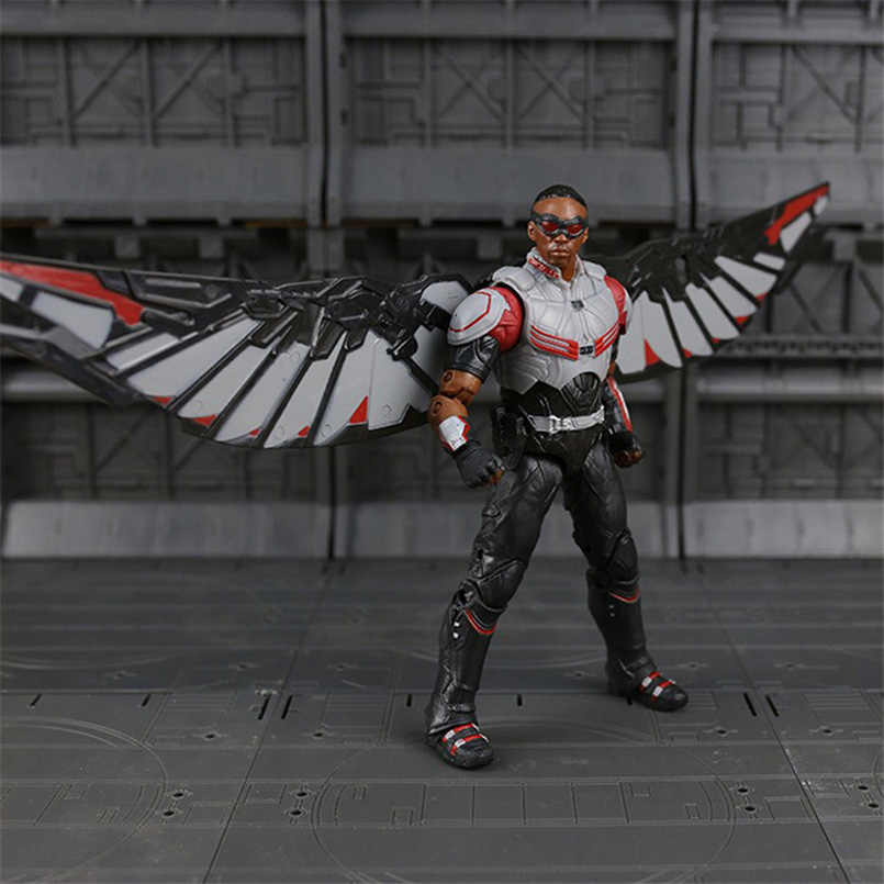 Apaffa Мстители Железный человек военная машина Капитан Америка Зимний Солдат муравей ПВХ фигурка модель игрушки для взрослых