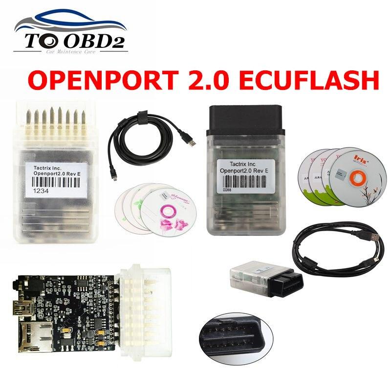 2019 mais novo tactrix openport 2.0 ecu chip tuning ferramenta porta aberta usb 2.0 ecu flash obd2 obdii conector multi marca carros