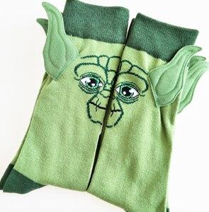 Image 2 - 1 пара, милые носки «Звездные войны», «уважаемый джедай Мастер Йода», уличные носки для косплея, хлопковые носки «Пробуждение силы», новинка, подарок