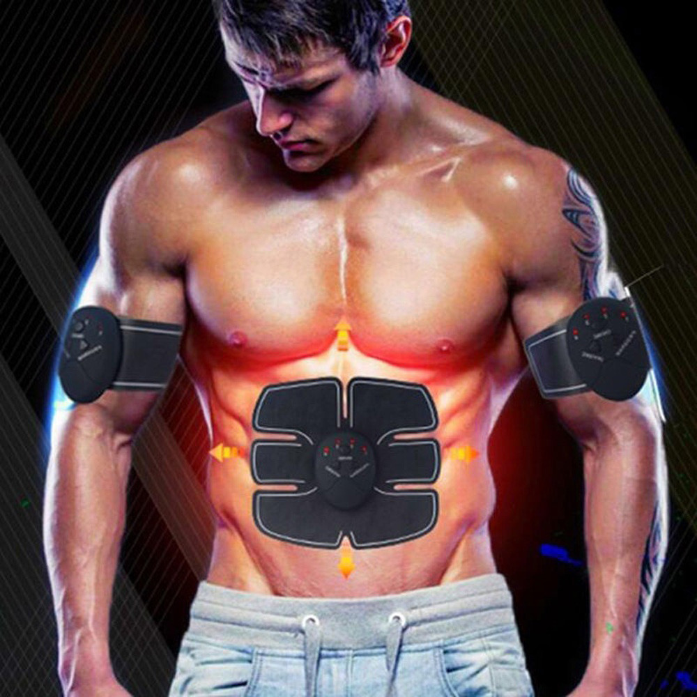 Hot Sale 4pcs Ems Technology Pad Abdominal Exerciser Muscle Training Fitness Gear Fitpad Gel Pad Waist Belly Arms Back Buttock Clear-Cut Texture Fitness Equipments