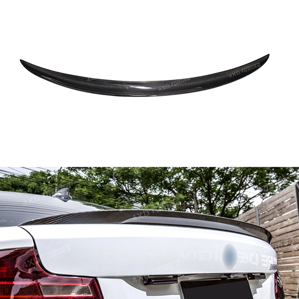 P Style For BMW 2 Series F22 Coupe & F23 Convertible & M2 F87 Carbon Fiber Rear Spoiler Rear Bumper Lip Trunk Wing styling 2014+ m4 style e93 carbon fiber rear wing spoiler for bmw e93 convertible 3 series 2005 2011 racing car styling tail trunk lip wing