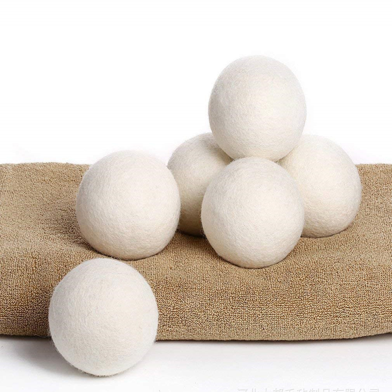 6PCS/pack Natural Reusable Laundry Clean Ball Practical Home Wool Dryer Balls Softener Alternative Accessories