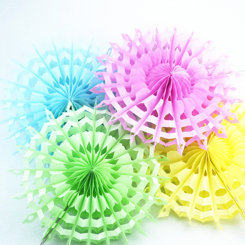 New 5pcs Tissue Paper Fan Diy Crafts Hanging Wedding