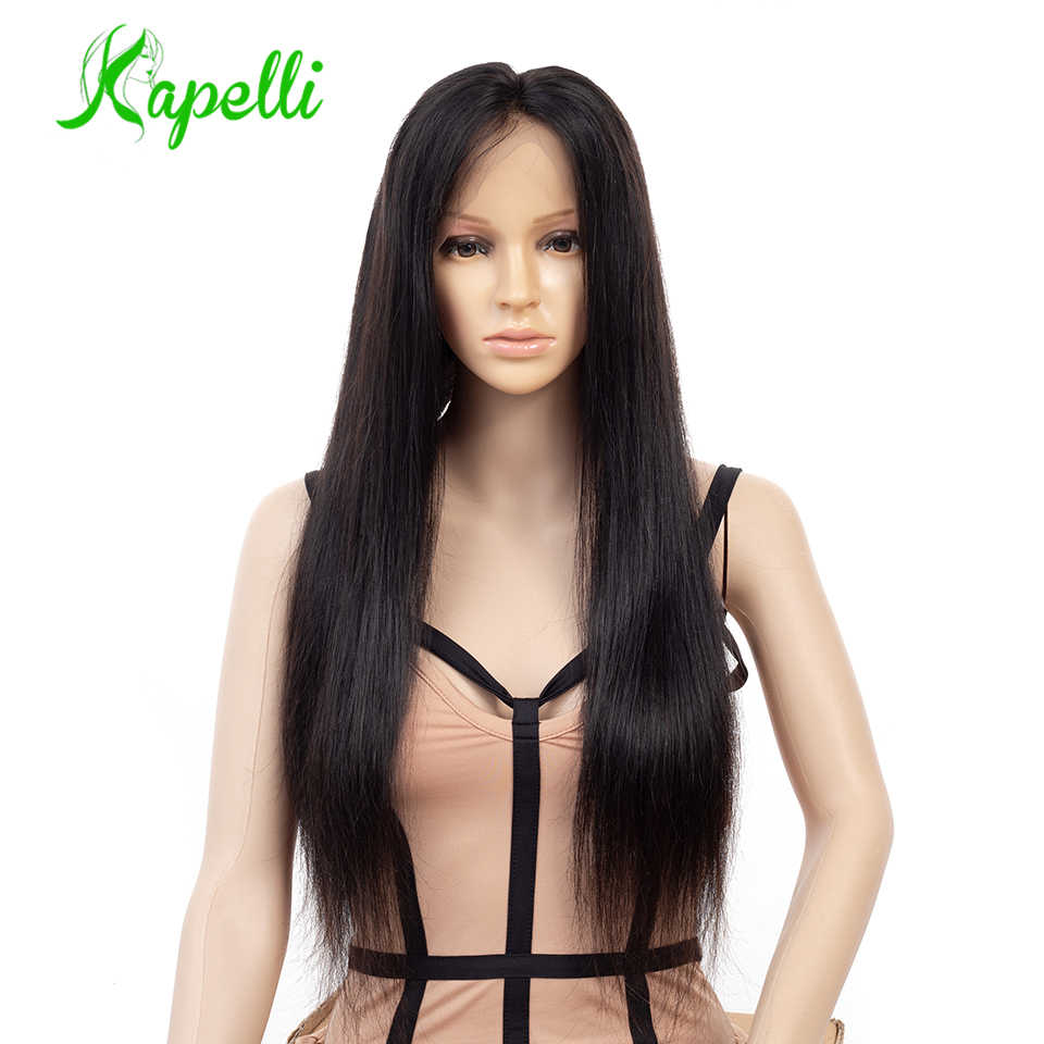 Full Lace Human Hair Wigs Pre Plucked With Baby Hair Brazilian Remy Hair Straight Full Lace Wigs For Black Women Bleached Knots