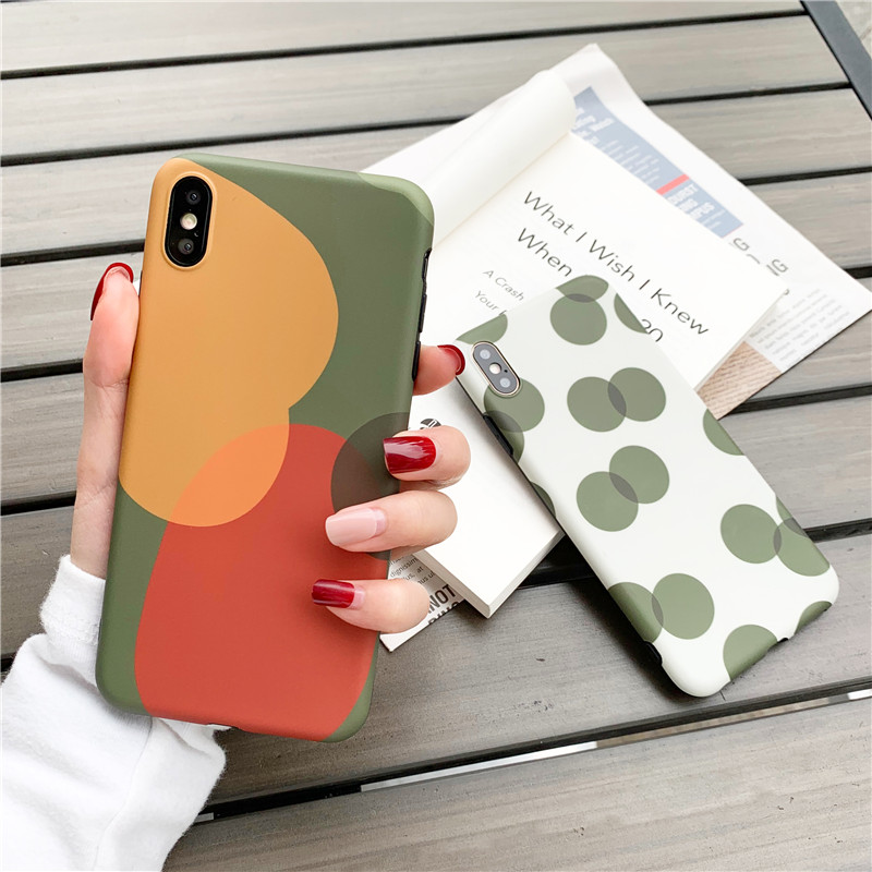 Us 3 21 Geometric Patterned Phone Case For Iphone Xs Max Case For Iphone 6 6s 7 8 Plus X Xr Cover Fashion Wave Point Imd Soft Cases Capa In Fitted