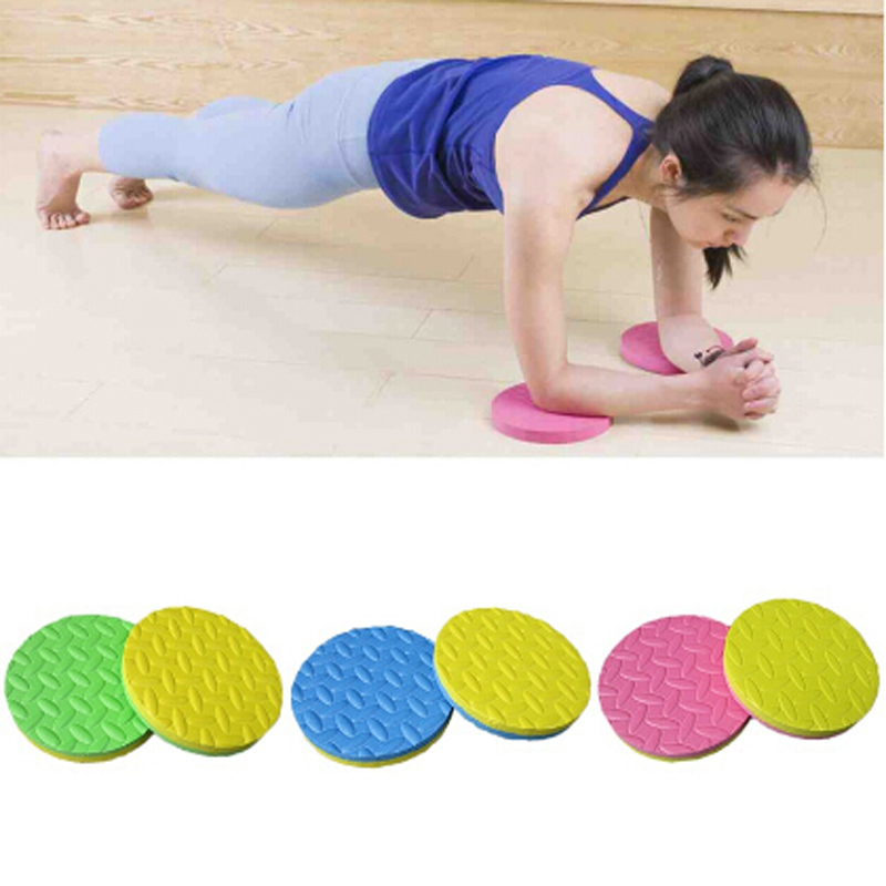 2PCs/ Pair Mini Plank Pad Kissen Elbow Sports Protection Yoga Workout Training Disk Round Thickness Exercise Mats Fitnes Mat
