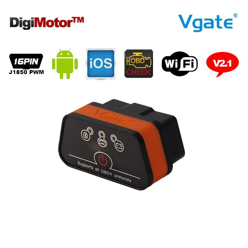 Prix pour D'origine Vgate iCar2 Wifi OBD2 ELM327 Chine ELM 327 v2.1 Wi fi obdii outil de diagnostic scanner wi-fi obdii pour iphone ios android