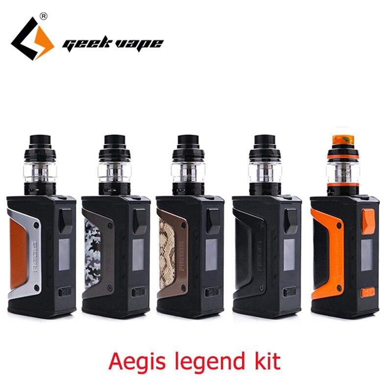 Grand Kit Original de légende de Geekvape Aegis de vente 200 w avec la bobine de maille aéro Sub ohm réservoir pk geekvape aegis 100 w cigarette électronique