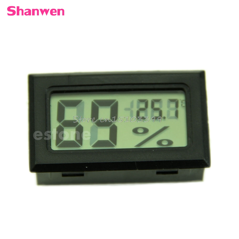 Black Hygrometer Thermometer Digital LCD Temperature Humidity Meter 10%~99%RH #G205M# Best Quality mini digital lcd thermometer humidity
