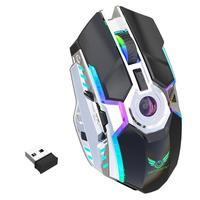 98 HXSJ ZERODATE-T30 Mouse 2.4G Wireless Mice RGB 2400DPI Adjustable Rechargeable Mouse for Windows 98/Me/2000/XP/Vista/Win7/8/10 (1)