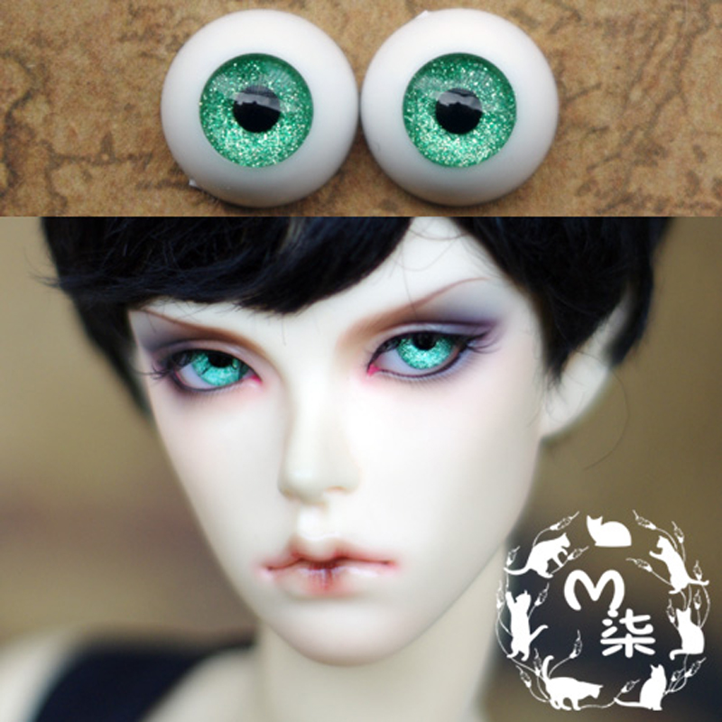 1Pair SD BJD Doll Accessories Eyeball 12MM 14MM 16MM Green  Acrylic Doll Eyes BJD Eyes 1pair new fashion sd bjd doll accessories casual shoes for bjd doll 1 4 1 3