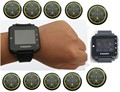 Free shipping! POCSAG watch paging system, 2pc PC programmable text message watch pager, 10pc alpha transmitter, waiterservice