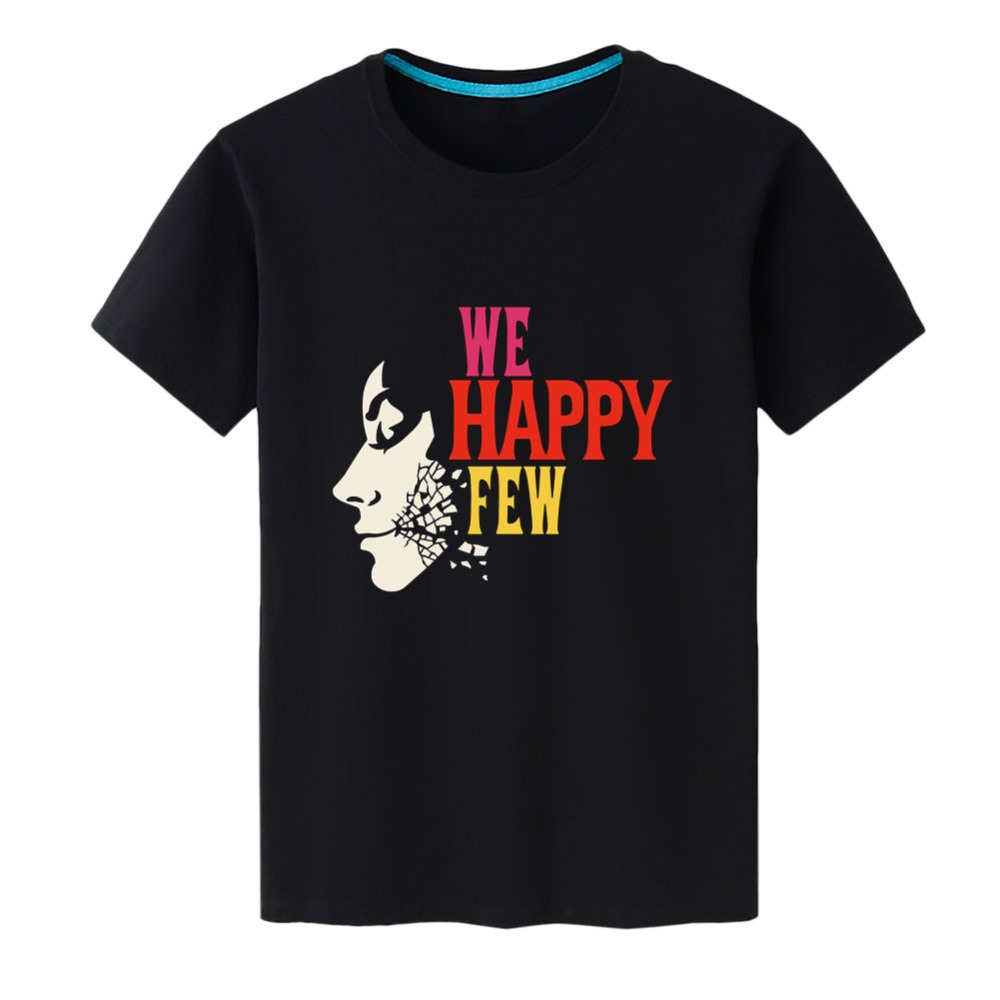 2019 New Fashion T Shirt Men for Game We Happy Few Mask Cosplay O-Neck Printed T-shirts Short Sleeve Tops Tee Shirts