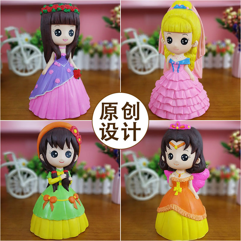 DIY Princess Series Plaster Doll Can Not Break Out The Plastic Graffiti Painted Children's Toys Arts Crafts, DIY Toys Craft Toys