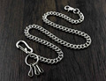 Strong Basic Leash Heavy Linked Jeans Wallet Key Chain WCS03 Silver YL-22