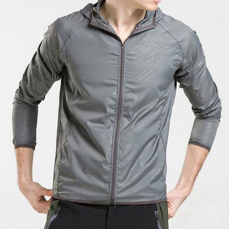 Summer Unisex Slim Sun-proof Hoodies Jackets Sports GYM UV Sunscreen Coat