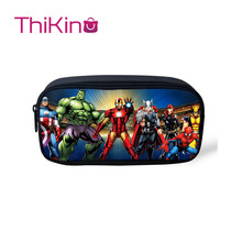 Thikin Avengers Marvel  Hero Casual Pencil Bags Pen Bag for Boys Case Student Makeup Storage HandBags Purses Kids