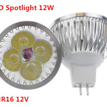 1 шт./лот, высокомощный светильник ing MR16 12 В 12 Вт, светодиодный светильник с регулируемой яркостью, лампа, теплый/чистый/холодный белый светодиодный светильник